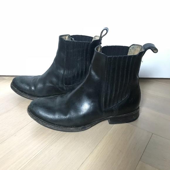 9f739644810 Frye Black Melissa Chelsea Boots Flat